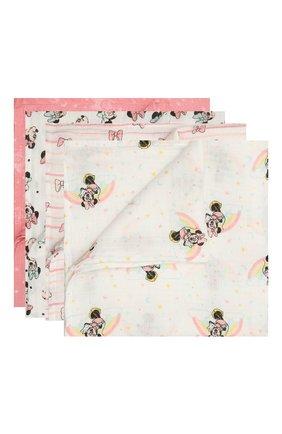 Детского комплект из четырех пеленок ADEN+ANAIS розового цвета, арт. ESWC40005DI | Фото 1
