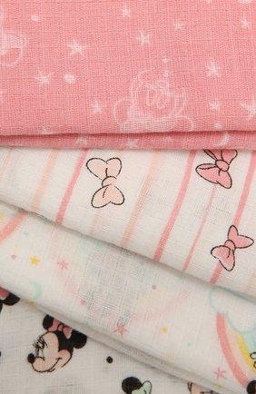 Детского комплект из четырех пеленок ADEN+ANAIS розового цвета, арт. ESWC40005DI | Фото 2