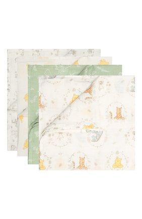 Детского комплект из четырех пеленок ADEN+ANAIS разноцветного цвета, арт. ESWC40008DI | Фото 1