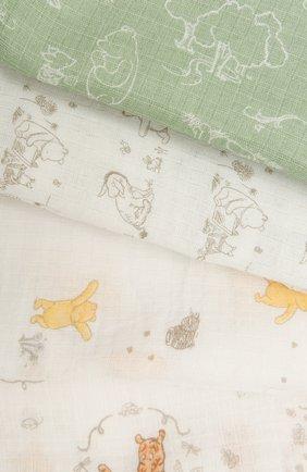 Детского комплект из четырех пеленок ADEN+ANAIS разноцветного цвета, арт. ESWC40008DI | Фото 2