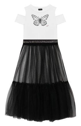 Детское комплект из платья и юбки JAKIOO черно-белого цвета, арт. 417906AD | Фото 1