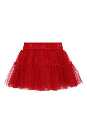Детская юбка MONNALISA красного цвета, арт. 377GON | Фото 1