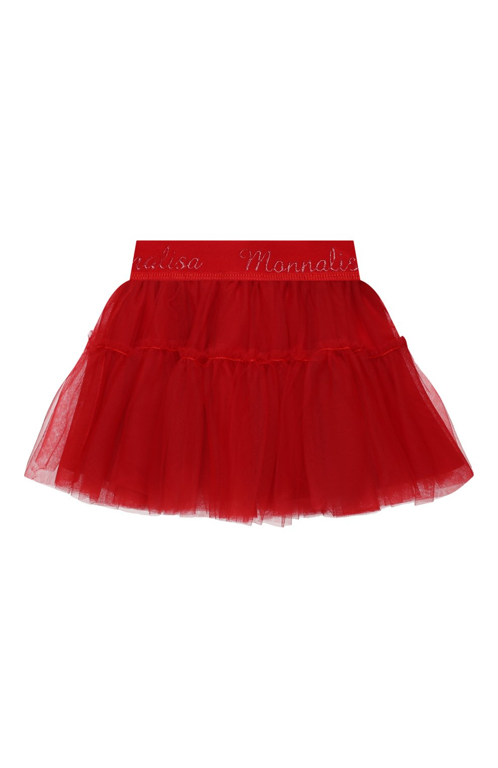 Детская юбка MONNALISA красного цвета, арт. 377GON | Фото 2