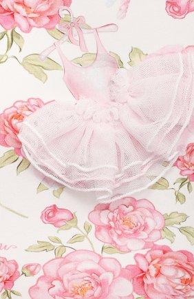 Женский хлопковое платье MONNALISA разноцветного цвета, арт. 397901R7   Фото 3