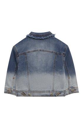 Детская джинсовая куртка MONNALISA синего цвета, арт. 197102R2 | Фото 2 (Материал внешний: Хлопок; Кросс-КТ: Деним; Рукава: Длинные; Ростовка одежда: 3 года | 98 см, 4 года | 104 см, 5 лет | 110 см, 6 лет | 116 см, 7 лет | 122 см, 8 лет | 128 см)