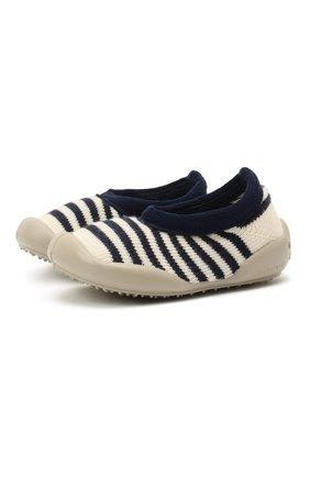 Детского домашние туфли COLLEGIEN белого цвета, арт. 6464/18-35 | Фото 1 (Материал внутренний: Текстиль; Материал внешний: Текстиль)