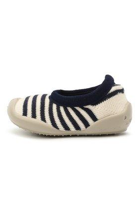 Детского домашние туфли COLLEGIEN белого цвета, арт. 6464/18-35 | Фото 2 (Материал внутренний: Текстиль; Материал внешний: Текстиль)