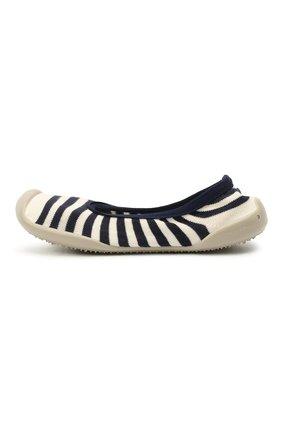Детского домашние туфли COLLEGIEN белого цвета, арт. 6464/36-39 | Фото 2 (Материал внутренний: Текстиль; Материал внешний: Текстиль)