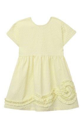Детское платье IL GUFO желтого цвета, арт. P21VM635C3125/2A-4A | Фото 1