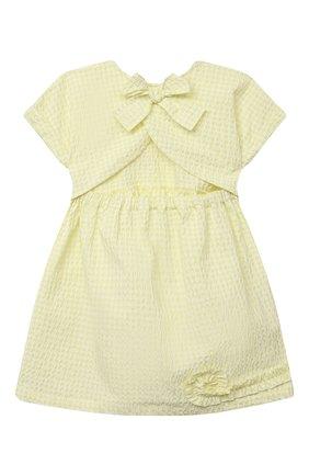 Детское платье IL GUFO желтого цвета, арт. P21VM635C3125/2A-4A | Фото 2