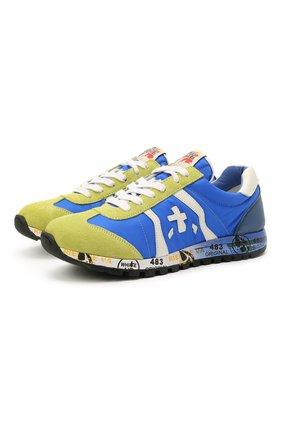 Детские кроссовки PREMIATA WILL BE синего цвета, арт. LUCY/12-10013/JUN | Фото 1 (Материал внутренний: Натуральная кожа; Материал внешний: Текстиль)