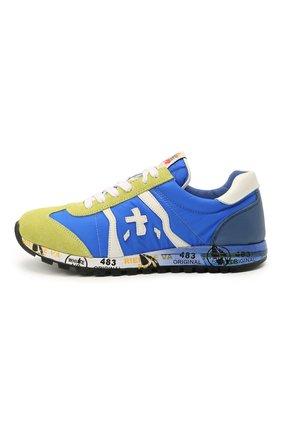 Детские кроссовки PREMIATA WILL BE синего цвета, арт. LUCY/12-10013/JUN | Фото 2 (Материал внутренний: Натуральная кожа; Материал внешний: Текстиль)