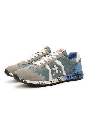 Детские кроссовки PREMIATA WILL BE синего цвета, арт. LUCY/12-10313/JUN | Фото 1 (Материал внешний: Текстиль; Материал внутренний: Натуральная кожа)