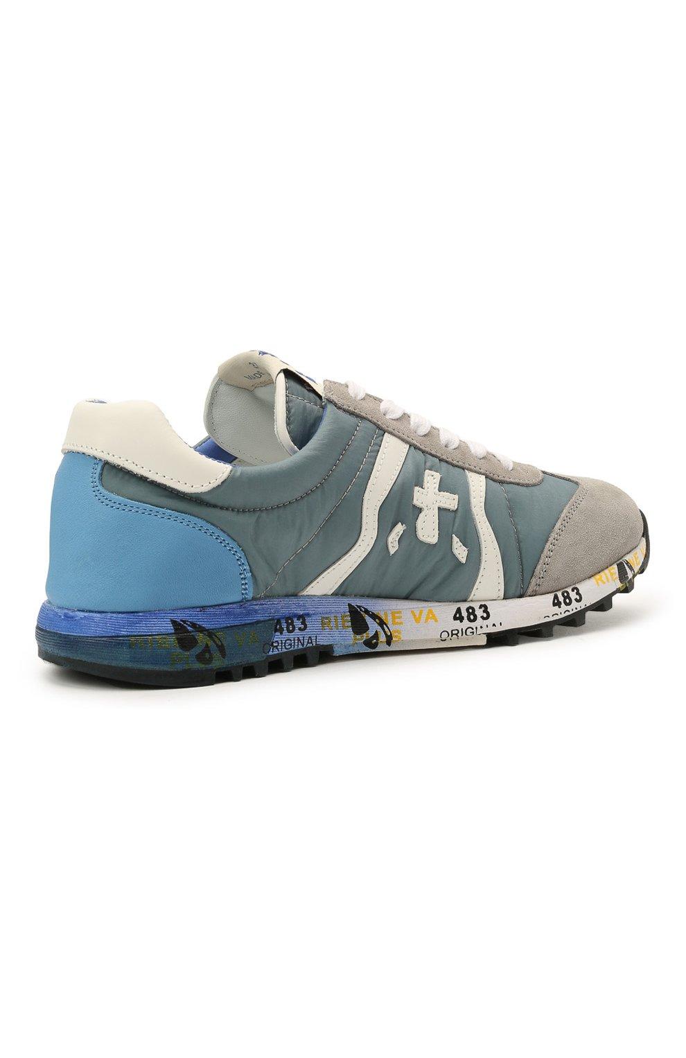 Детские кроссовки PREMIATA WILL BE синего цвета, арт. LUCY/12-10313/JUN   Фото 3 (Материал внешний: Текстиль; Материал внутренний: Натуральная кожа)