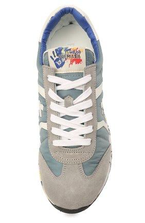Детские кроссовки PREMIATA WILL BE синего цвета, арт. LUCY/12-10313/JUN   Фото 4 (Материал внешний: Текстиль; Материал внутренний: Натуральная кожа)