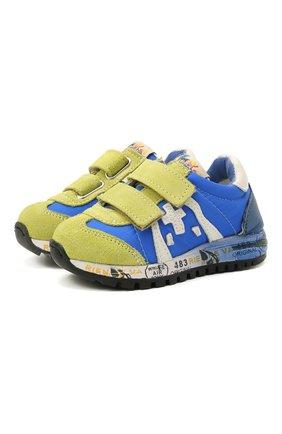 Детские кроссовки PREMIATA WILL BE синего цвета, арт. LUCY V/12-20013/T0D | Фото 1 (Материал внешний: Текстиль; Материал внутренний: Натуральная кожа)