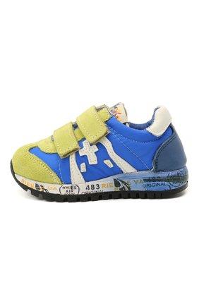 Детские кроссовки PREMIATA WILL BE синего цвета, арт. LUCY V/12-20013/T0D | Фото 2 (Материал внешний: Текстиль; Материал внутренний: Натуральная кожа)