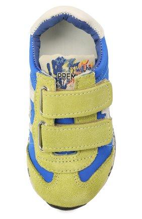 Детские кроссовки PREMIATA WILL BE синего цвета, арт. LUCY V/12-20013/T0D | Фото 4 (Материал внешний: Текстиль; Материал внутренний: Натуральная кожа)