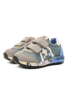 Детские кроссовки PREMIATA WILL BE синего цвета, арт. LUCY V/12-20313/T0D | Фото 1 (Материал внутренний: Натуральная кожа; Материал внешний: Текстиль)