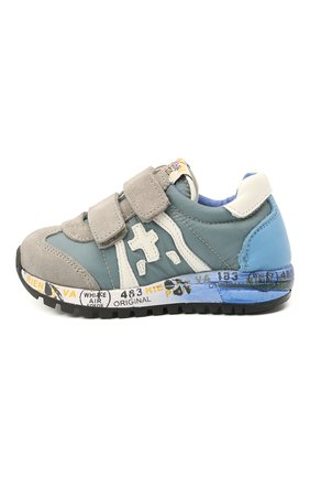 Детские кроссовки PREMIATA WILL BE синего цвета, арт. LUCY V/12-20313/T0D | Фото 2 (Материал внутренний: Натуральная кожа; Материал внешний: Текстиль)