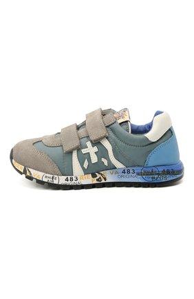 Детские кроссовки PREMIATA WILL BE синего цвета, арт. LUCY V/12-20313/CHILD | Фото 2 (Материал внутренний: Натуральная кожа; Кросс-КТ: велькро; Материал внешний: Текстиль)