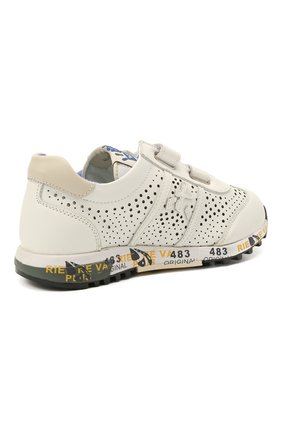Детские кожаные кроссовки PREMIATA WILL BE белого цвета, арт. LUCY V/12-21217/CHILD | Фото 3 (Материал внутренний: Натуральная кожа; Кросс-КТ: велькро)
