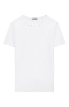 Детская хлопковая футболка PAOLO PECORA MILANO белого цвета, арт. PP2680/8A-12A   Фото 1