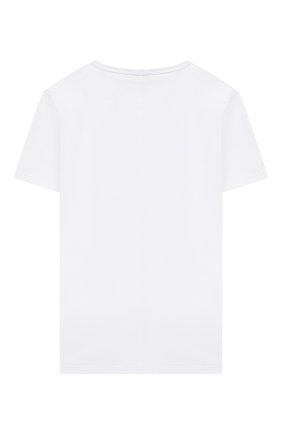 Детская хлопковая футболка PAOLO PECORA MILANO белого цвета, арт. PP2680/8A-12A   Фото 2