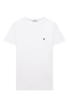 Детская хлопковая футболка PAOLO PECORA MILANO белого цвета, арт. PP2592/8A-12A   Фото 1