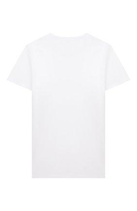 Детская хлопковая футболка PAOLO PECORA MILANO белого цвета, арт. PP2592/8A-12A   Фото 2