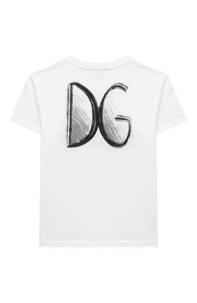 Детская хлопковая футболка DOLCE & GABBANA белого цвета, арт. L4JTBL/G7XPA/8-14 | Фото 2