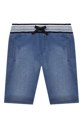 Детские хлопковые шорты DOLCE & GABBANA голубого цвета, арт. L4JQD4/G7YDZ/8-14   Фото 1