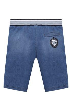 Детские хлопковые шорты DOLCE & GABBANA голубого цвета, арт. L4JQD4/G7YDZ/8-14   Фото 2