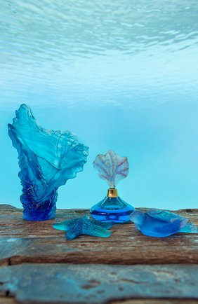Ваза coral sea средняя DAUM голубого цвета, арт. 05725 | Фото 2