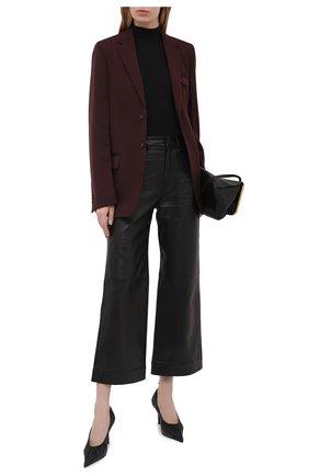Женские кожаные туфли scrunch BALENCIAGA черного цвета, арт. 636612/WA2M0 | Фото 2 (Каблук высота: Высокий; Подошва: Плоская; Материал внутренний: Натуральная кожа; Каблук тип: Шпилька)