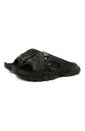 Женские комбинированные шлепанцы track BALENCIAGA черного цвета, арт. 618084/W2NA1 | Фото 1