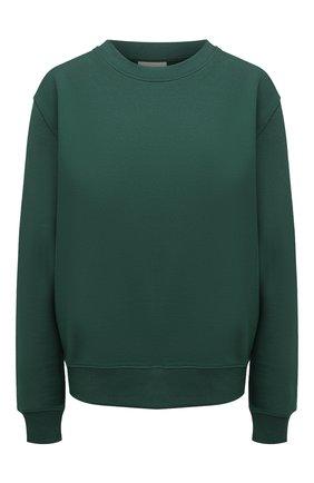 Женский хлопковый свитшот DRIES VAN NOTEN зеленого цвета, арт. 211-11173-2629   Фото 1