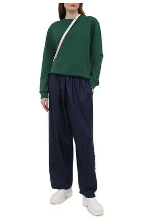 Женский хлопковый свитшот DRIES VAN NOTEN зеленого цвета, арт. 211-11173-2629   Фото 2