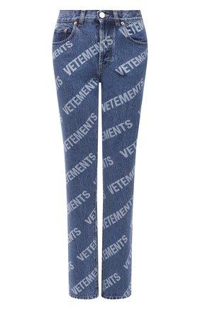 Женские джинсы VETEMENTS синего цвета, арт. WE51PA220B 2803/BLUE | Фото 1
