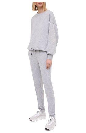 Женские хлопковые брюки BOGNER серого цвета, арт. 16976678 | Фото 2