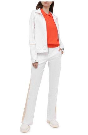 Женское поло из вискозы BOGNER оранжевого цвета, арт. 81926753   Фото 2