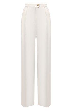 Женские льняные брюки LESYANEBO бежевого цвета, арт. SS21/Н-434/L | Фото 1 (Длина (брюки, джинсы): Удлиненные; Материал внешний: Лен; Женское Кросс-КТ: Брюки-одежда; Силуэт Ж (брюки и джинсы): Широкие; Стили: Кэжуэл)