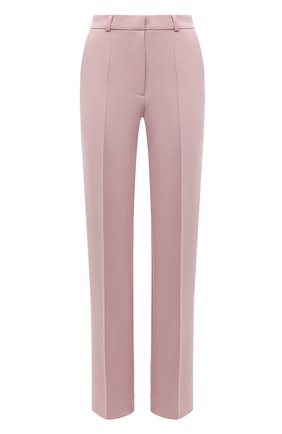 Женские брюки из вискозы LESYANEBO светло-розового цвета, арт. SS21/Н-157_1 | Фото 1 (Материал внешний: Вискоза; Длина (брюки, джинсы): Удлиненные; Женское Кросс-КТ: Брюки-одежда; Силуэт Ж (брюки и джинсы): Широкие; Стили: Кэжуэл)