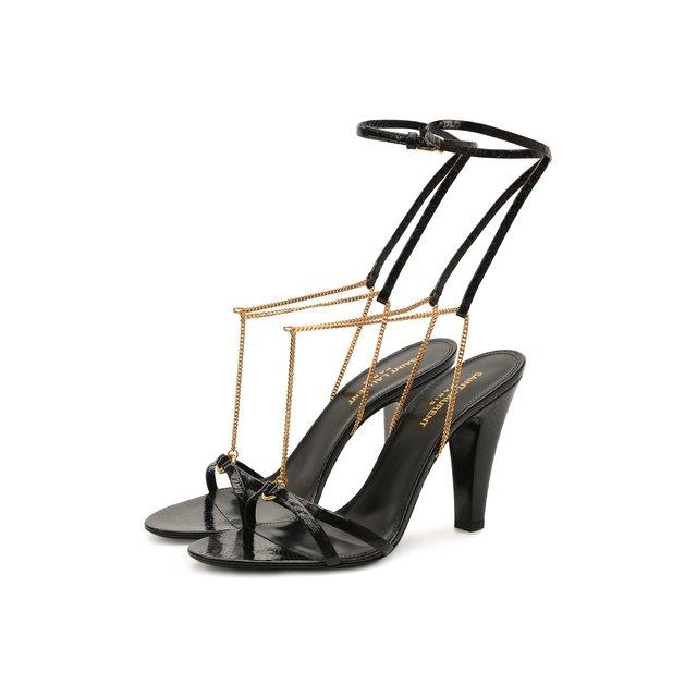 Кожаные босоножки Sue Saint Laurent