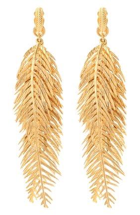 Женские клипсы SAINT LAURENT золотого цвета, арт. 646665/Y1500 | Фото 1