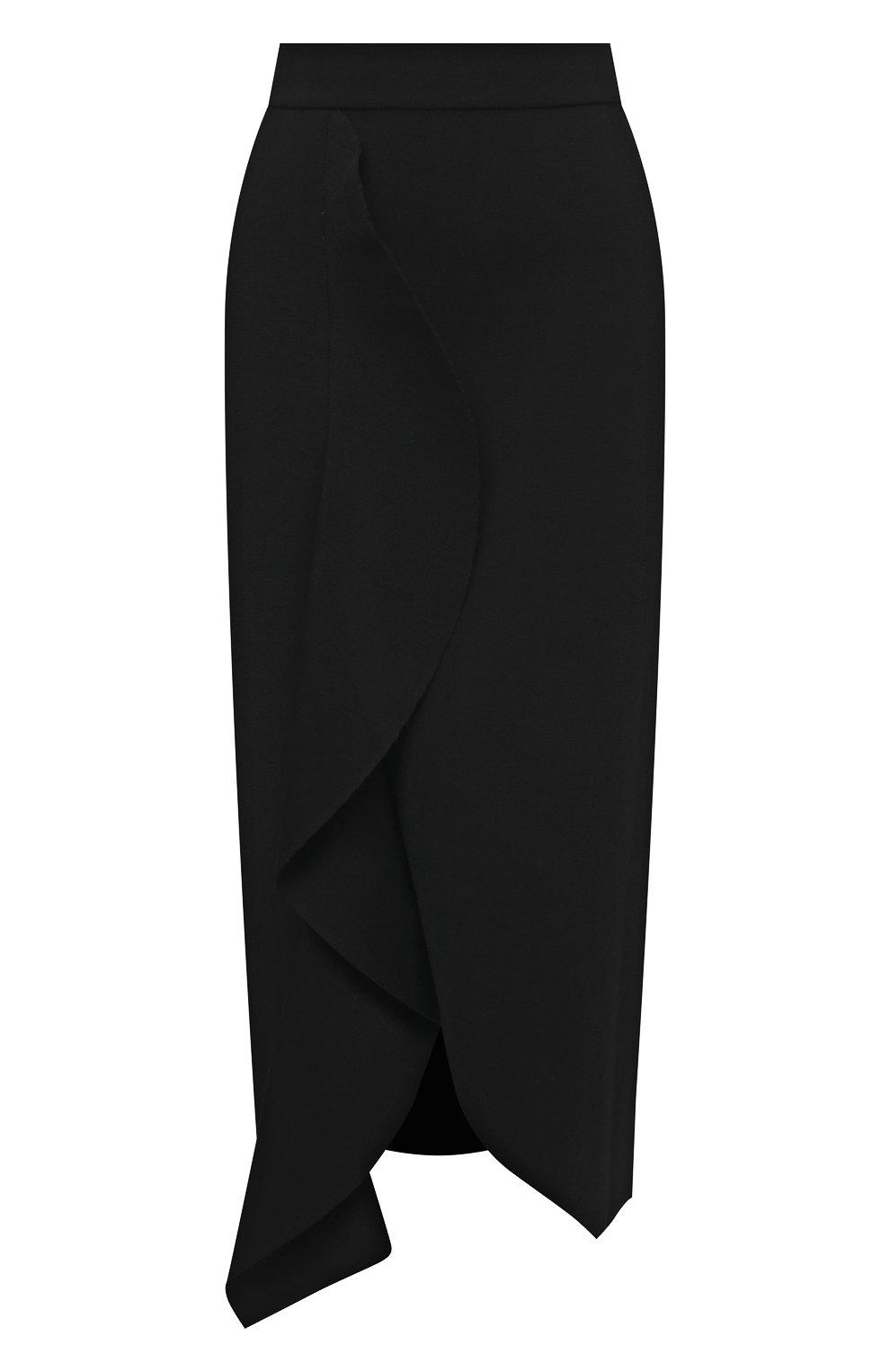Женская юбка из вискозы ALEXANDER MCQUEEN черного цвета, арт. 659363/Q1ATW | Фото 1