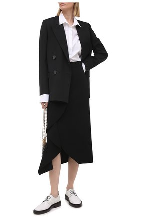 Женская юбка из вискозы ALEXANDER MCQUEEN черного цвета, арт. 659363/Q1ATW | Фото 2
