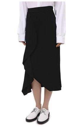 Женская юбка из вискозы ALEXANDER MCQUEEN черного цвета, арт. 659363/Q1ATW | Фото 3