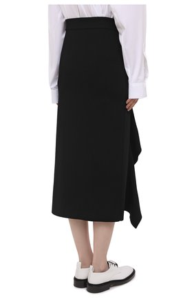 Женская юбка из вискозы ALEXANDER MCQUEEN черного цвета, арт. 659363/Q1ATW | Фото 4