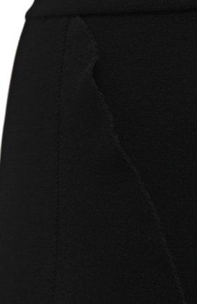 Женская юбка из вискозы ALEXANDER MCQUEEN черного цвета, арт. 659363/Q1ATW | Фото 5